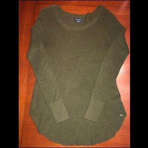 Navy Green American Eagle Sweater